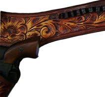 Modestone 44//45 Left Handed Western Leather Holster Pistoleng/ürtel Rig Revolver