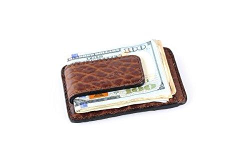 Buffalo Money Clip Wallet - Walnut by Borlino