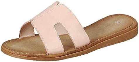Wells Collection Womens Slip On Slide Flat Sandal with Notch