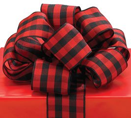 Red Wired Ribbon | Amazon Com Red Black Plaid Ribbon 20 Yards 1 5 Wired Bow Craft