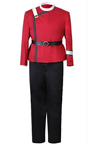 CosDaddy Khan Starfleet Costume Uniform (Wrath Costume Men)