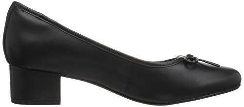 Clarks Womens Chartli Daisy Dress Pump, Black Leather, 6 M US
