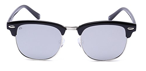 "PRIVÉ REVAUX ""The Chairman"" [Limited Edition] Handcrafted Designer Brownline Polarized Sunglasses For Men & Women (Grey)"
