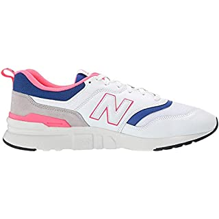 New Balance Men's 997H V1 Sneaker, White/Laser Blue, 12 D US