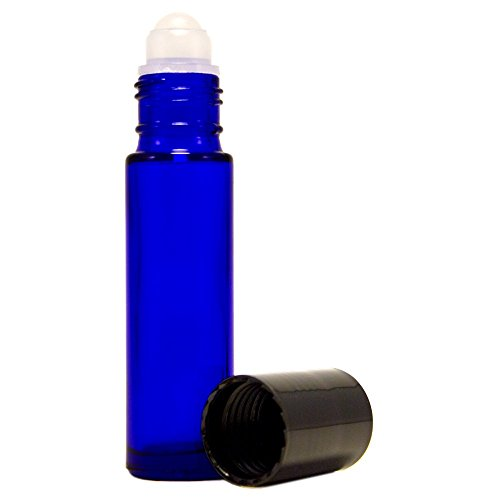 Generic Aromatherapy Roll On Bottles,Frosted Cobalt Blue Glass - Set of 6