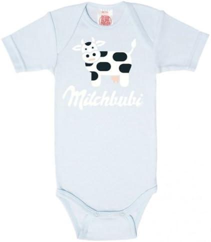 Leche Bubi Logoshirt Body de bebé camiseta, azul claro ...