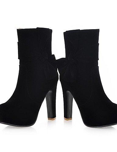 XZZ  Pfennigabsatz Plattform Stiefeletten   Ankle Stiefel Farben) Beflockung Frauen (mehr Farben) Stiefel cd557c