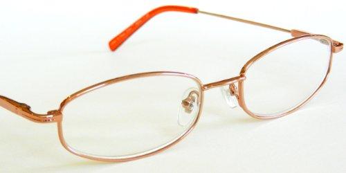 - Dr. Dean Edell +1.25 Rose Gold Wire Frame Reading Glasses -DE13