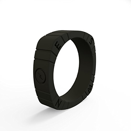 (Women's Black Compass Silicone Ring Size 04)