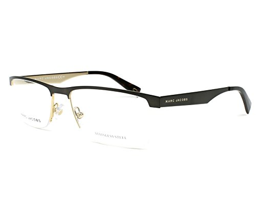 Marc Jacobs Metal Rectangular Eyeglasses 56 0KJ1 Dark Ruthenium