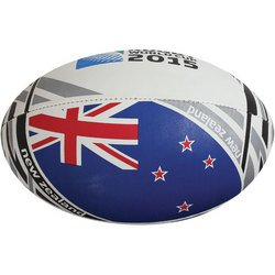 Gilbert 2015 Rugby World Cup New Zealand Flag Rugby Ball, 5