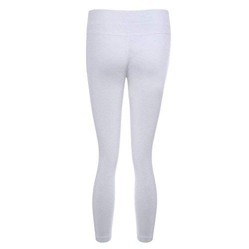 De Couleur Fashion Haute Unie Pantalon Pantalons Vintage lastique Denim Taille Loisirs Festive Maigre Femme Dames Pants Dchir Elgante Blanc Jeans CSaqfvAx