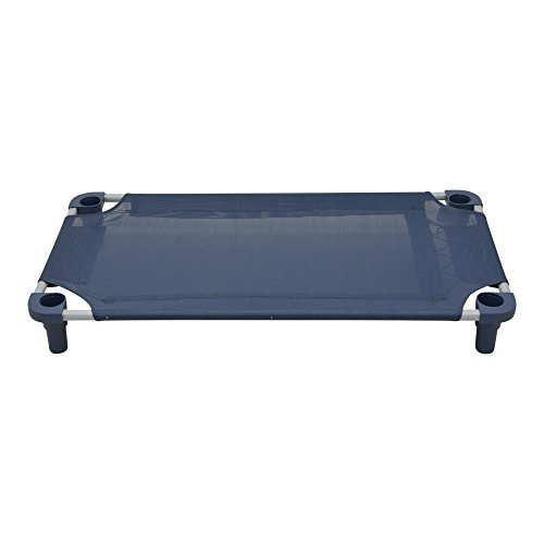 Mahar Manufacturing 40x22 Premium Pet Cot in Navy with Navy Legs, Unassembled from Mahar Manufacturing