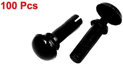uxcell ナイロンプッシュクリップ リベットファスナー 黒 厚さ7.5-8.5mmパネル 100個入り