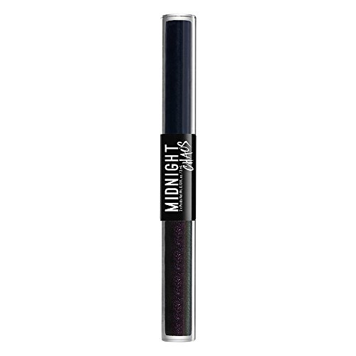 NYX PROFESSIONAL MAKEUP Midnight Chaos Dual-ended Eyeliner, Blue/Midnight Warrior, 0.2 Ounce