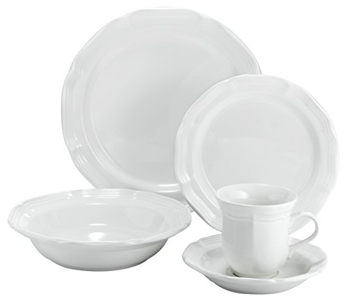 Cheap Mikasa 5223388 16 Piece French Countryside Dinnerware Set, Cream