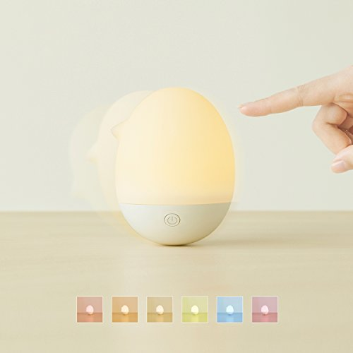 (Emoi Night Lights for Kids,Egg Never Fall and Swinging Touch Lamp,6 Colors Mini Lamp and Gifts for Girls and Boys)