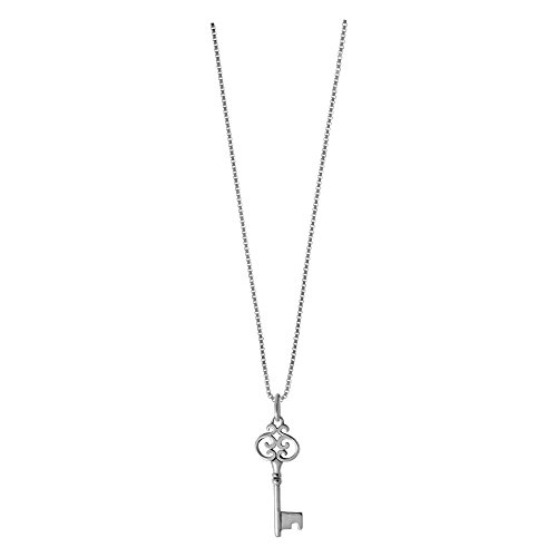 Victorian Key Necklace, 18 inches (Sterling Key)