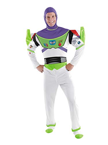 Disguise Toy Story Men's Buzz Lightyear Deluxe Adult,Multi,XL (42-46) Costume -