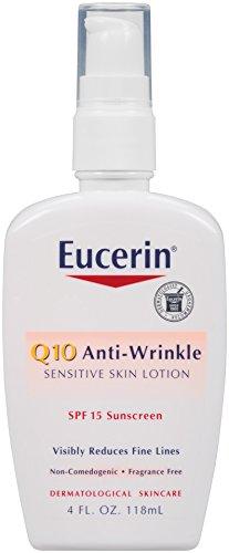 Lotion Eucerin Q10 anti-rides peau sensible SPF, 4 once