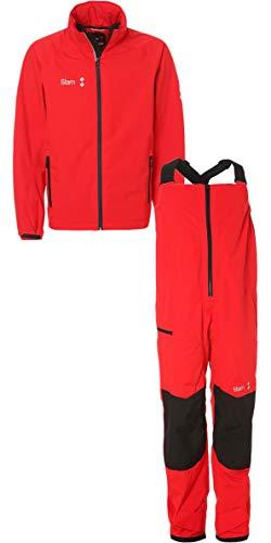 Slam Win-D Sailing Jacket + Trouser Combi Set Red Slam Size - M