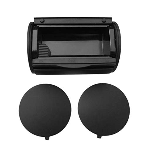 TOOGOO Black Rear Ashtray Bin Ash Tray + Side Caps for Bora Jetta Golf 4 Mk4 1J0 857 962H +1J0 863 359E