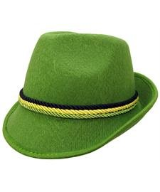 Green Alpine Bavarian German Felt Hat Oktoberfest Halloween Costume ()