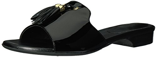 Gold VANELi Black Patent Sandal Women's Blizzi Trim Flat vqYpzw6f