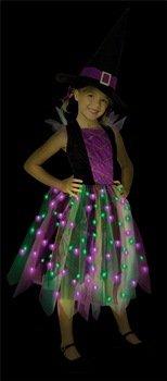 Light Up Witch Child Costumes (Rainbow Light Up Witch Child Costume Size 12-14 Large)