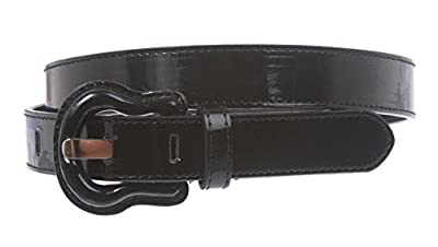 """1"""" Western Buckle Patent Leather Fashion Belt"""