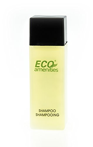 (ECO AMENITIES Travel Size Bottle Hotel Shampoo Bulk, Clear, 1 Ounce, 288)