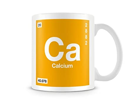 Periodic Table Of Elements 20 Ca Calcium Symbol Mug Amazon