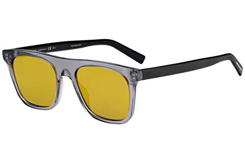 Christian Dior Homme DiorWalk Sunglasses Grey Black w/Brown Gold Mirror Lens 51mm R6S83 Dior Walk Dior Walk/S DiorWalk/S