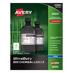 Avery GHS Chemical Container Labels -AVE60525