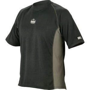 Ergodyne Core - Ergodyne CORE Performance Work Wear 6420 Short Sleeve - Black, XXX-Large