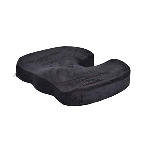 OLEEKA Memory Foam U Cojin del Asiento Cojin de la Silla de Masaje Cojin Lumbar de la Espalda Cojin ortopedico de Refuerzo del coccix para la Oficina del Coche de Viaje