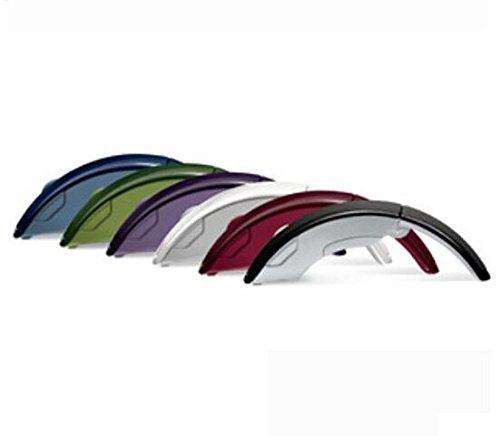 Domire White eFashion 2.4GHz Arc Foldable Wireless Optical USB Mouse for Laptop PC