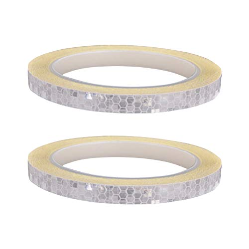 Vosarea 2pcs Blanco Micro prismático Que Cubre la Cinta reflexiva convertida