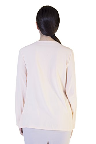 Morgan Rosa Para Camisas Visioli Manga Fashion Larga Mujer 0Swq04rn