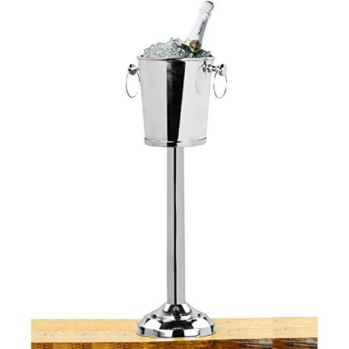 Nickel Plated Premium Aluminum Free Standing Wine Chiller | Wine Coolers & Cellar With Ice Bucket | Kitchen & Bar Wares | Nagina International