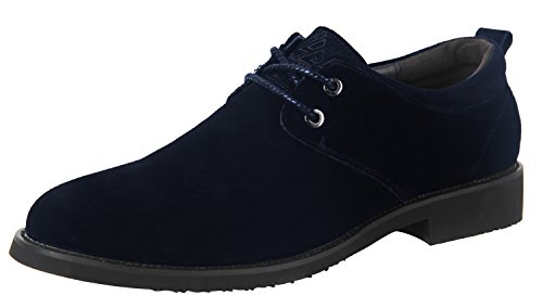 iLoveSIA Men's Classic Dress Oxford Suede Leather Shoe Dark Blue US Size 7.5