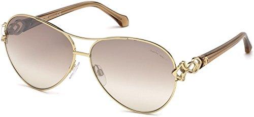 Sunglasses Roberto Cavalli RC 1078 Minucciano 32G gold/brown mirror