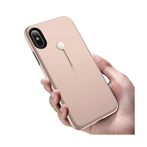 Price comparison product image for iPhone 7 case with Strap Kickstand for 2 in 1 Shockproof Luxury Coque for iPhone X 7 8 6 6s Plus Back Cover with Ring, Rose Gold, for iPhone 7 Plus