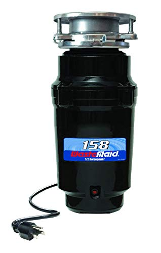 Waste Maid 158 Standard Food Waste Disposer, Garbage Disposal, Attached Power Cord, 1/2 HP, 2600 RPM (Standard Disposer)