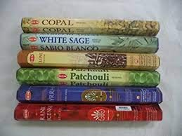 HEM Copal, White Sage, Clove, Patchouli, Frankincense, Myrrh Incense 120 Sticks Lot