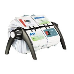 Visifix Duo Rotary Business/address File Holds 800 4 1/8 X 2 7/8 Cards, Black By: Durable