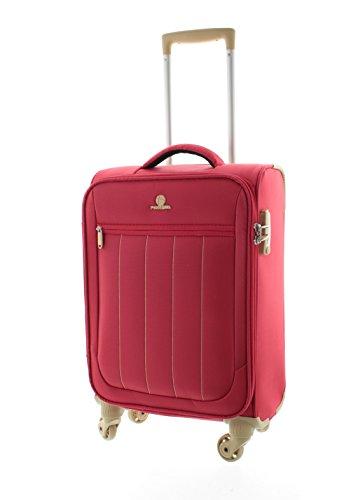 Pianeta Galaxy, baule, valigia, trolley da viaggio, bagaglio per il viaggio, bagaglio a mano (Rosso M)