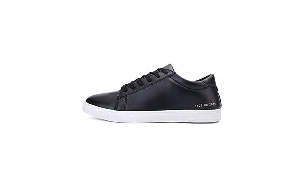 Zapatos ocasionales de verano/Calzado poco transpirable/Hombre de tomó la versión coreana de zapatos de los hombres/ redondo corriente de Zapatitos Blancos-B Longitud del pie=25.3CM(10Inch) TNLQdiZJ
