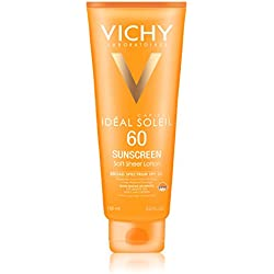 Vichy Idéal Capital Soleil SPF 60 Ultra-Light Body and Face Sunscreen with Antioxidants and Vitamin E, 5.0 Fl. Oz.
