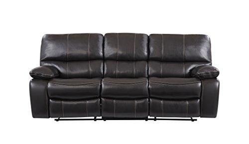 (Global Furniture USA U0040-ESPRESSO-RS Global Furniture Sofa/Loveseat, Espresso/Black)